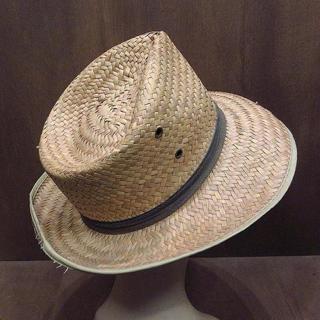 ビンテージ~70's●ストローフェドラハット●210429n1-m-ht-str麦わら帽子メンズUSA中折れ帽