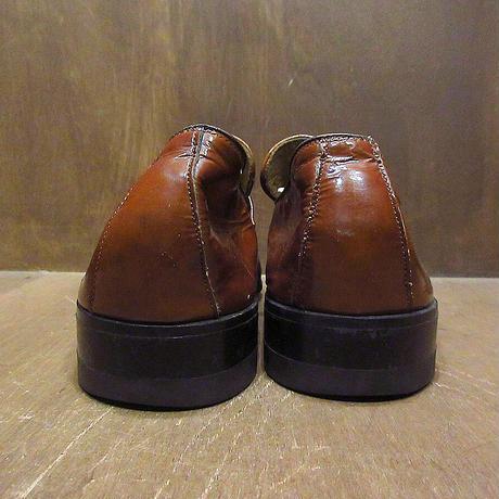 ビンテージ70's●ROBLEEエナメルローファー茶size 10C/A●210409n2-m-lf-28cm 1970sメンズ古靴ブラウンドレスシューズ