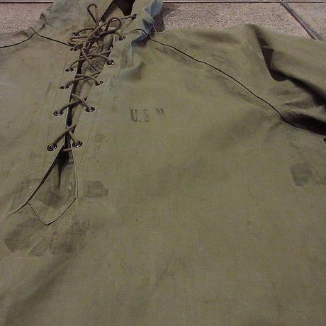 ビンテージ40's●U.S.NAVYレインパーカsize M●210503f4-m-jk-mlt古着USNミリタリー米軍実物メンズジャケットパーカー