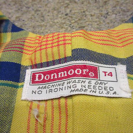 ビンテージ70's●DEADSTOCK DonmoorキッズチェックオーバーオールT4●210505s5-k-oval 1970sデッドストック子供服オールインワン