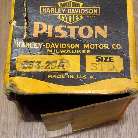 ビンテージ40's●DEADSTOCK HARLEY DAVIDSON 253-29Aピストン Size STD. 元箱付き●210428n7-otclct ハーレー純正パーツ部品