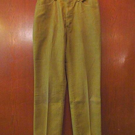 ビンテージ70's●MANNレディーススリムテーパードパンツ黄土色W68cm●200906s3-w-pnt-ot-W27ボトムス古着女性用USA長ズボン