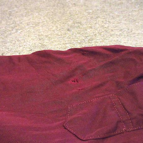 ビンテージ50's●長袖ループカラーシャツバーガンディsize M●210504s6-m-lssh-lp古着開襟シャツロカビリーUSAオープンカラーシャツメンズ