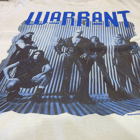 ビンテージ90's●WARRANT 1992年-1993年ワールドツアーTシャツ白size XL●210427s5-m-tsh-bnウォレントメタルバンドバンTロックバンド