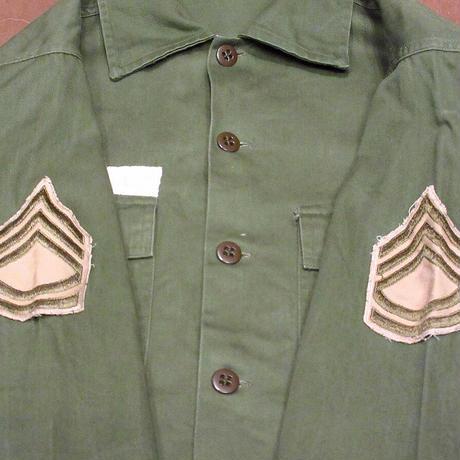 ビンテージ50's●U.S.ARMY OG-107コットンサテンユーティリティシャツ●210428n3-m-lssh-mlt ミリタリージャケット米軍実物古着