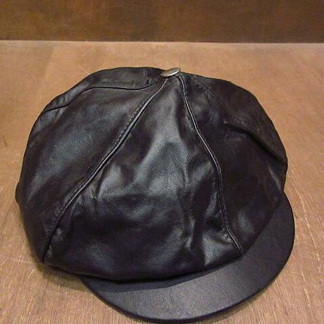 HARLEY-DAVIDSONレザーキャスケット黒sizeXL●210225n3-m-cp-casハーレーダビッドソンバイカーメンズ帽子バイク