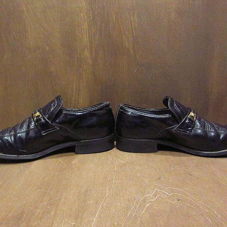 ビンテージ70's●エナメル×リザードスキンローファー黒size 8 1/2●210409n3-m-lf-265cm 1970s古靴革靴ドレスシューズメンズブラック