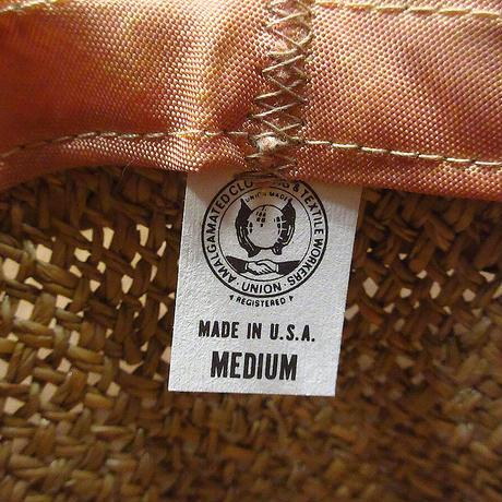 ビンテージ70's●Goorin OF CALIFORNIA総柄リボンストローハットM●210606n6-m-ht-str 1970s麦わら帽子メンズ