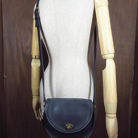 ビンテージ●オールドコーチレザーショルダーバッグ黒●210606n8-bag-shd COACHレディース鞄ブラック