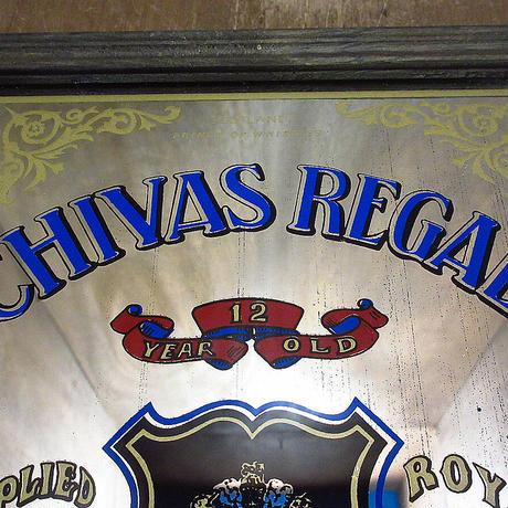 ビンテージ●CHIVAS REGALパブミラー●210425n6-sign シーバスリーガルスコッチウイスキー鏡ディスプレイインテリア