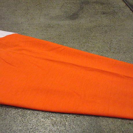ビンテージ70's●DEADSTOCK RUSSELL金タグツートーンラグランTシャツ橙×白size M●210426f5-m-ostsh古着ラッセル七分丈USA製