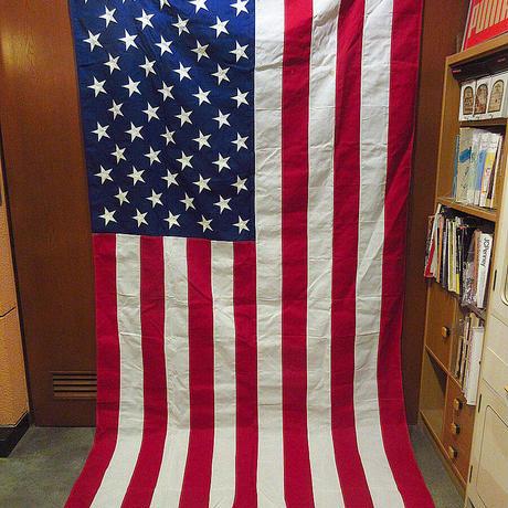 DEADSTOCK 50星アメリカ星条旗size 150cm × 279cm●210607f7-otclct国旗インテリアディスプレイ生地布USAフラッグ