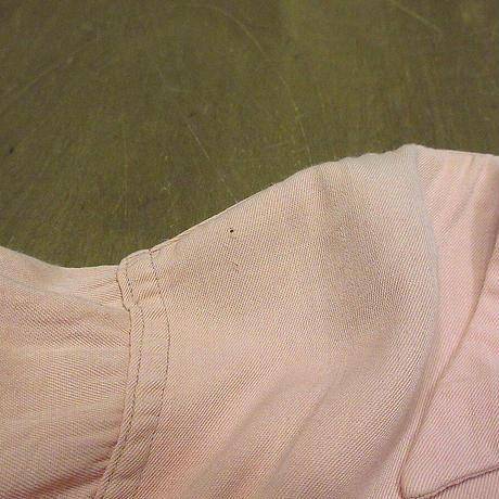 ビンテージ50's●Sea Islandレーヨンウエスタンループカラーシャツピンクsize ML●210610n6-m-lssh-lp古着長袖シャツ開襟シャツロカビリー