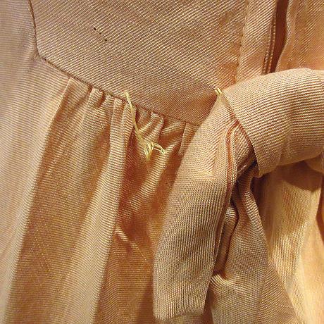 ビンテージ60's●花刺繍長袖レーヨンワンピース黄●210414s2-w-lsdrs 1960sイエローレトロレディース