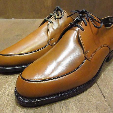 ビンテージ70's●DEADSTOCK WINTHROP Uチップシューズ茶9 E/C●210405n6-m-dshs-275cm 1970sデッドストック革靴ドレスシューズ