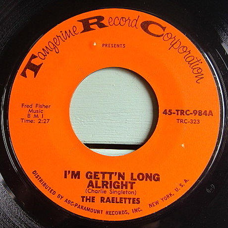 THE RAELETTES●I'M GETTI'N LONG ALRIGHT/ALL I NEED IS HIS LOVE TRC-323●200623t1-rcd-7-fnレコード7インチファンク