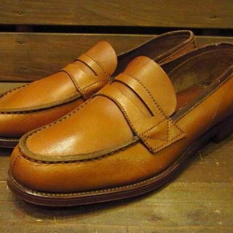 ビンテージ50's●DEAD STOCK FREEMANペニーローファー茶●210316n12-m-lf-265cm 1950sデッドストックフリーマン革靴レザーメンズ
