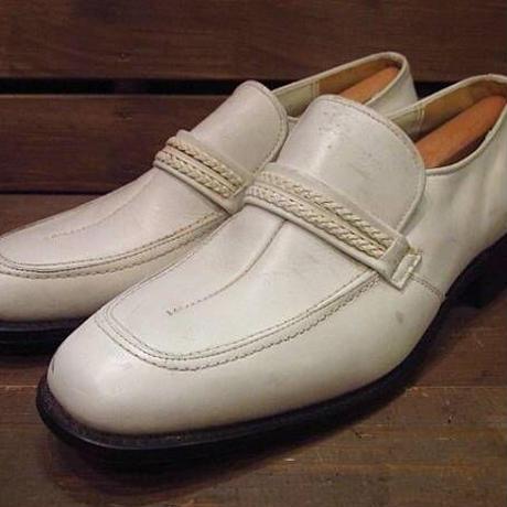 ビンテージ70's●DEAD STOCK WEYENBERGレザーローファー白10B●210323n10-m-lf-28cm 1970sデッドストックメンズ革靴ホワイト