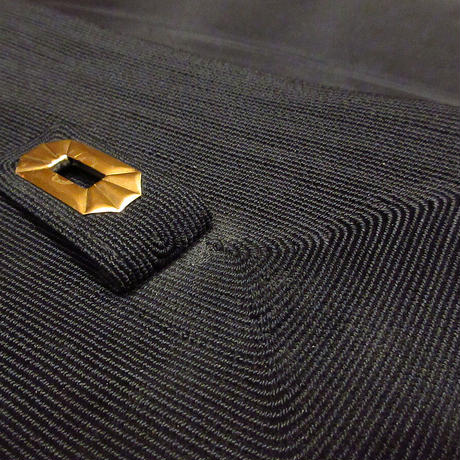 ビンテージ40's●コードハンドバッグ黒●210323n5-bag-hnd 1940sレディースバッグ鞄ブラック
