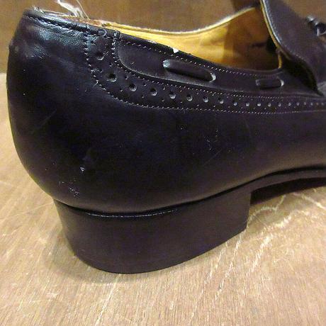 ビンテージ●Johnston & Murphyウイングチップタッセルローファー黒size 10 1/2B●210402n4-m-lf-285cmジョンストンマーフィー革靴