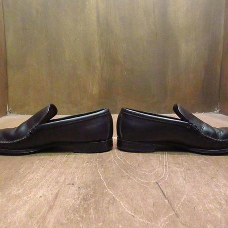 ビンテージ60's●コブラヴァンプ黒8 1/2●201129n3-m-lf-265cm 1960sレザーローファーメンズ