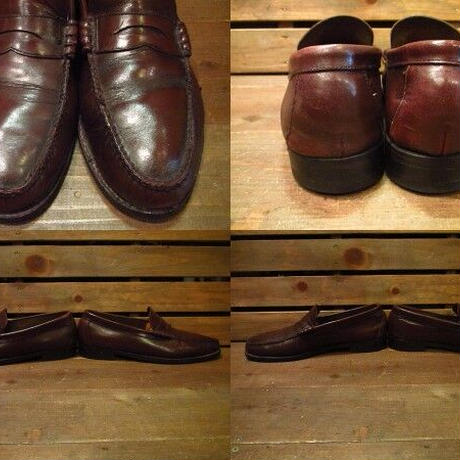 ビンテージ70's80's●FLORSHEIMビーフロールローファー28.5cm●210316n9-m-lf-285cm 1970s1980sフローシャイムメンズ革靴