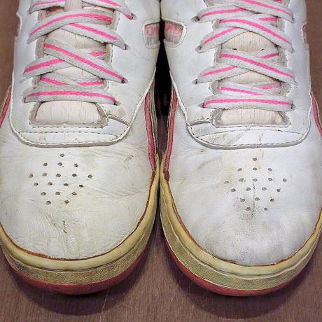 ビンテージ80's●Reebok レディースハイカットスニーカー 7●210403n5-w-snk-23cm KOREAリーボックシューズ古靴古着