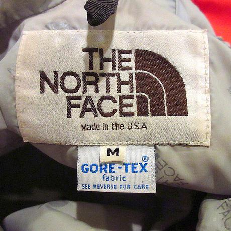 ビンテージ80's●THE NORTH FACE茶タグGORE-TEXナイロンマウンテンパーカ赤size M●210501s3-m-jk-mpザノースフェイスゴアテックス
