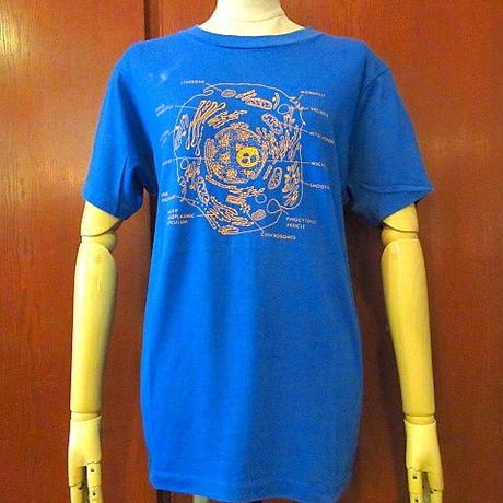 ビンテージ80's●HanesセルプリントTシャツ青size M●200817s4-m-tsh-otヘインズ古着USAトップス半袖ブルー