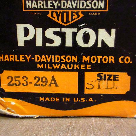 ビンテージ40's● HARLEY DAVIDSON 253-29Aピストン Size STD. 元箱付き●210428n6-otclct ハーレー純正パーツ部品