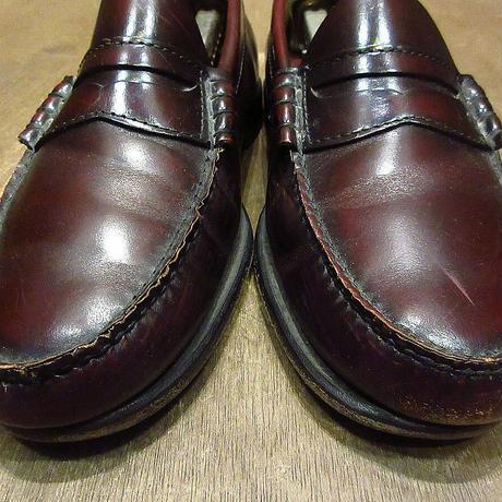 ビンテージ●G.H.BASS & CO.ペニーローファーバーガンディ●210405n5-m-lf-26cm メンズ革靴ワインレッド赤茶