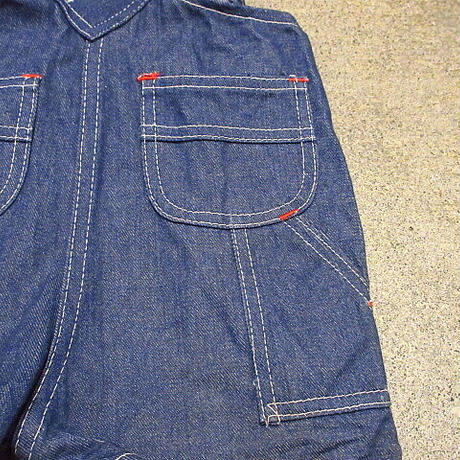 ビンテージ70's●BIG MACキッズバットダイデニムサロペット3T●210218s3-k-oval 1970sビッグマックワークオーバーオール子供服