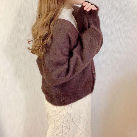 shaggy knit cardigan