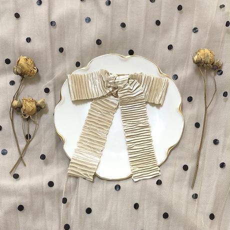 pleats ribbon valletta (milk)