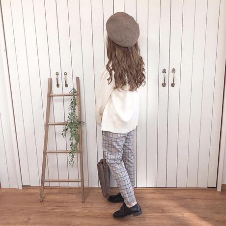plaid tapered pants