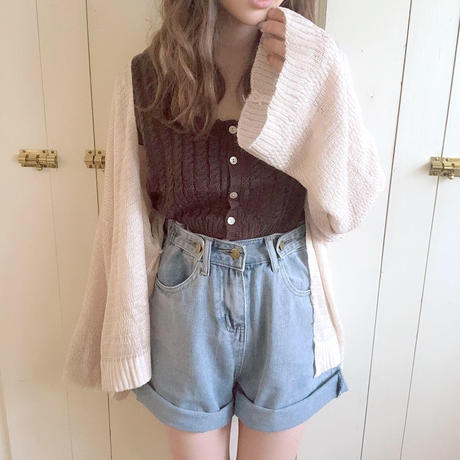 summer knit cardigan (beige)