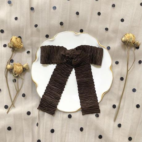 pleats ribbon valletta (chocolate)