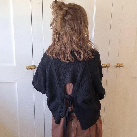 back w ribbon knit (black)