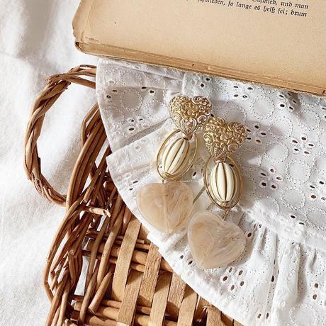 marble milky heart PI&ER