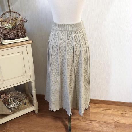 cable knit flare A line skirt