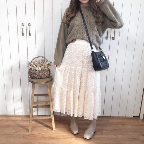lace tiered skirt