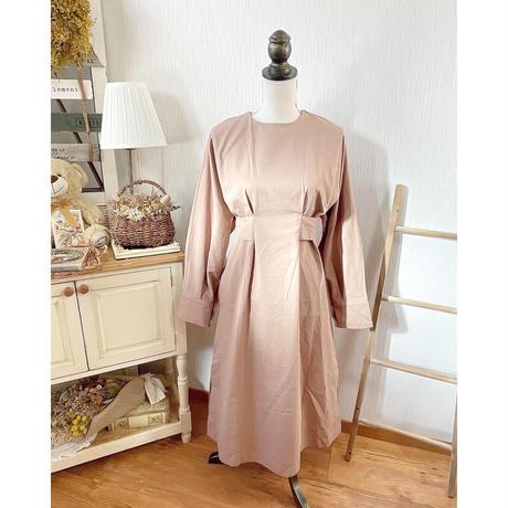 back design A line lady onepiece