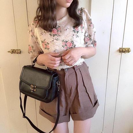antique flower blouse (beige)