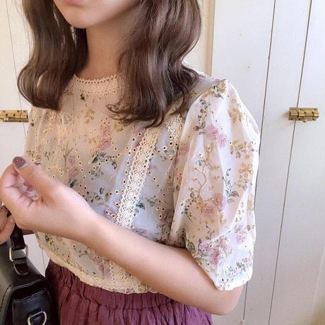 antique flower blouse (ivory)