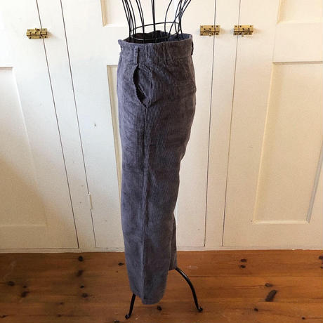corduroy straight pants (gray)