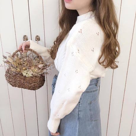 design lace knit (white)