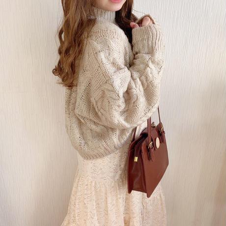 high neck alain knit (beige)