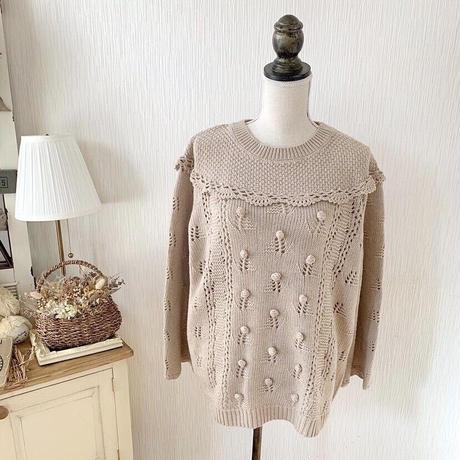 pon pon french knit