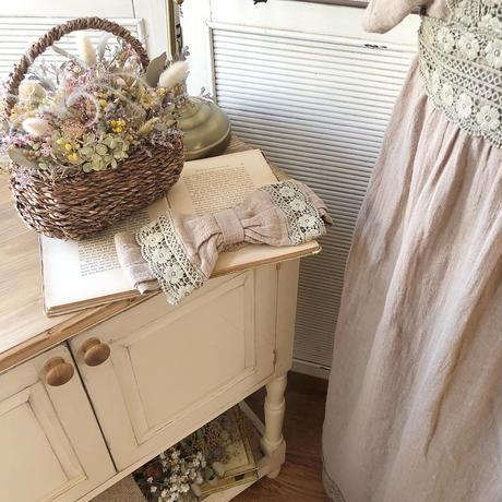 linen antique lace hair band