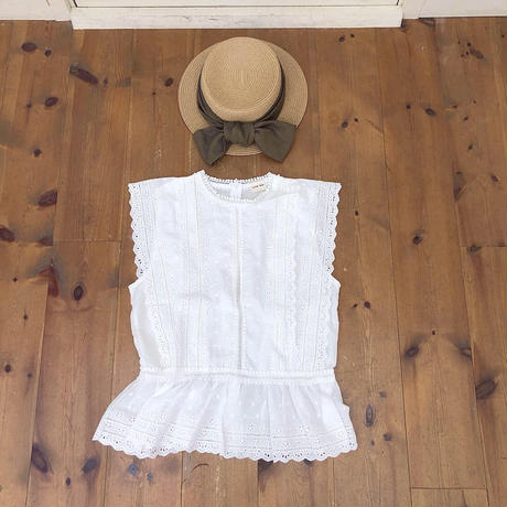 flower lace fairy blouse (white)